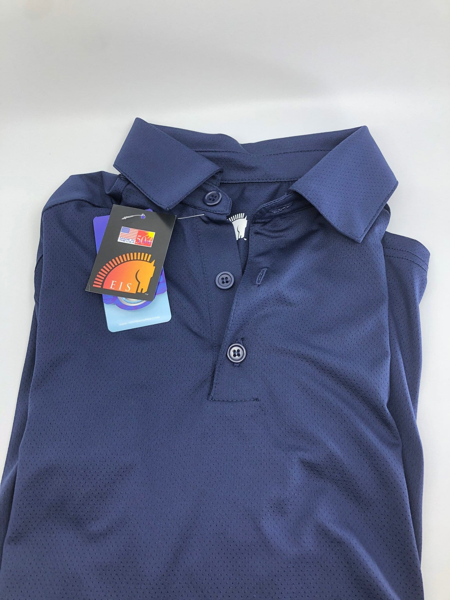 EIS Men's Shirts M/XS Men's Navy EIS Short Sleeve equestrian team apparel online tack store mobile tack store custom farm apparel custom show stable clothing equestrian lifestyle horse show clothing riding clothes horses equestrian tack store