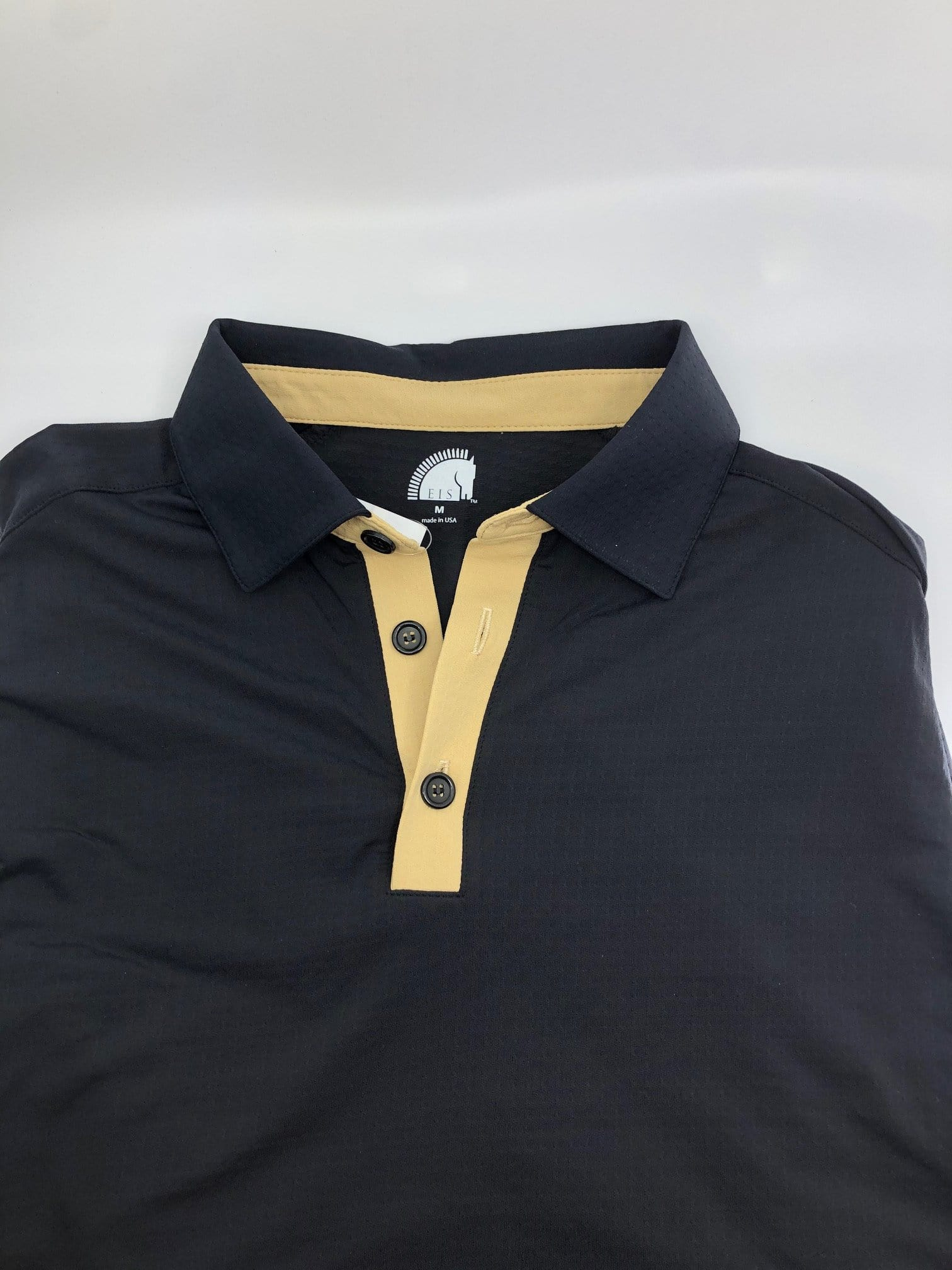 EIS Men's Shirts M/XS Men's Black Cashmere EIS Short Sleeve equestrian team apparel online tack store mobile tack store custom farm apparel custom show stable clothing equestrian lifestyle horse show clothing riding clothes horses equestrian tack store