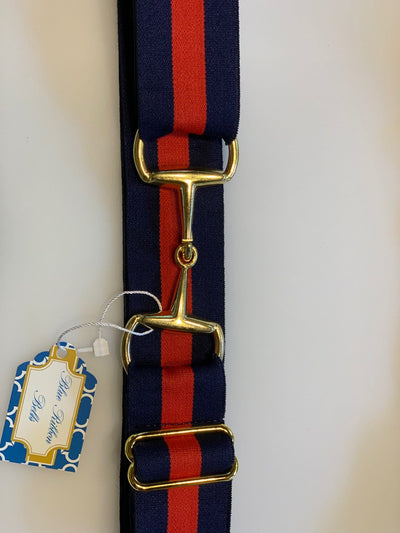 "Blue Ribbon Belts Belt Navy/Red Stripe Blue Ribbon Belts 1.5"" equestrian team apparel online tack store mobile tack store custom farm apparel custom show stable clothing equestrian lifestyle horse show clothing riding clothes horses equestrian tack store"