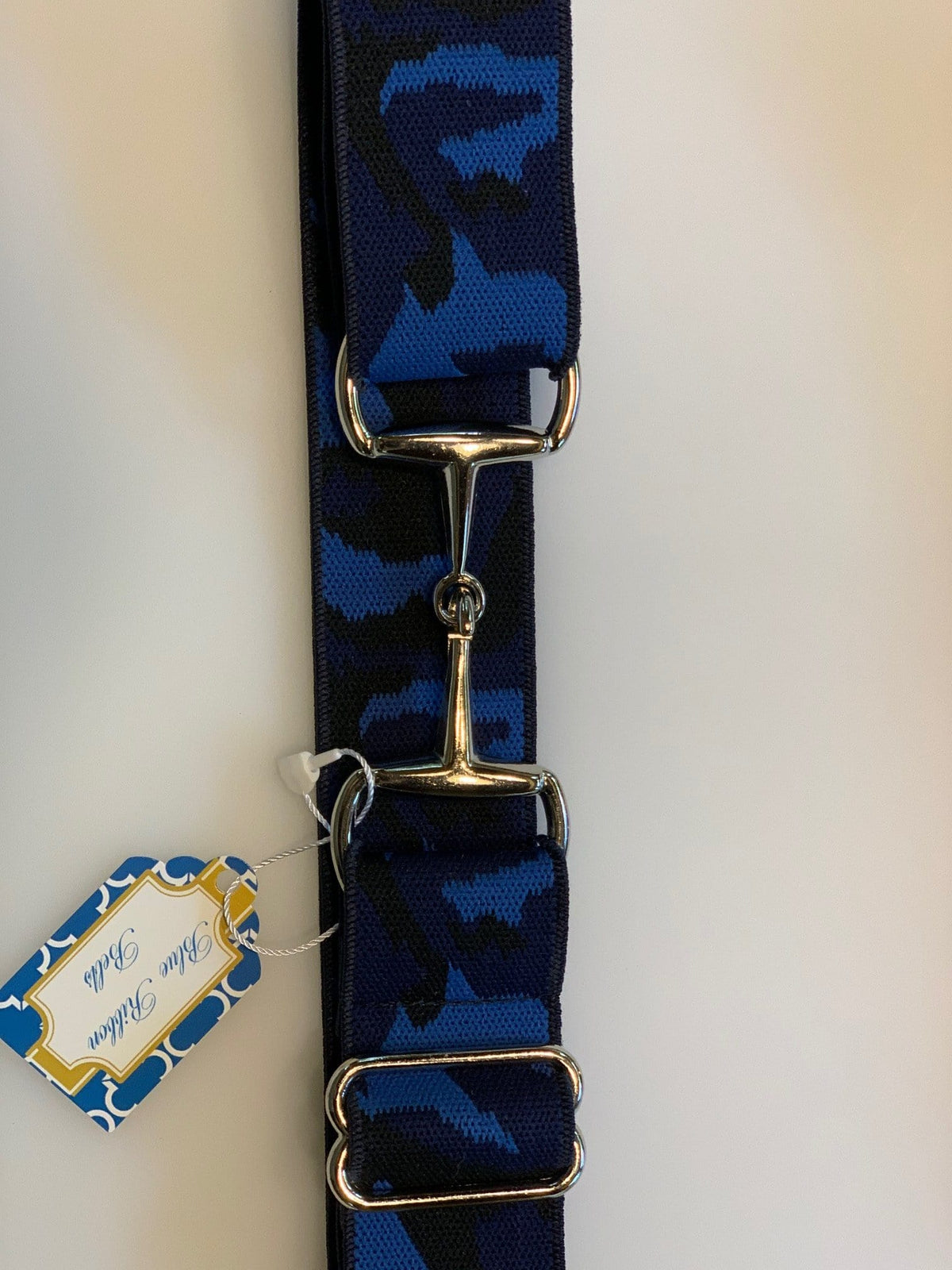 "Blue Ribbon Belts Belt Blue Camo Blue Ribbon Belts 1.5"" equestrian team apparel online tack store mobile tack store custom farm apparel custom show stable clothing equestrian lifestyle horse show clothing riding clothes horses equestrian tack store"
