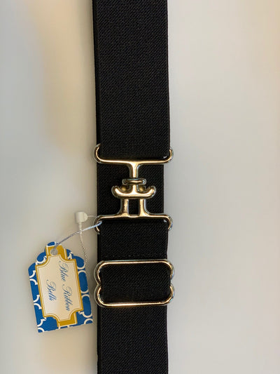 "Blue Ribbon Belts Belt Black W/T Buckle Blue Ribbon Belts 1.5"" equestrian team apparel online tack store mobile tack store custom farm apparel custom show stable clothing equestrian lifestyle horse show clothing riding clothes horses equestrian tack store"