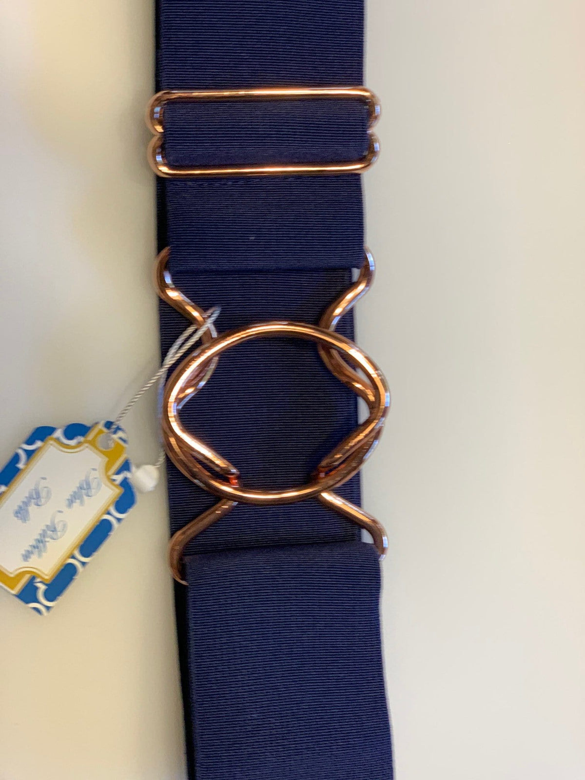 Blue Ribbon Belts Belt Navy with Rose Gold Buckle Blue Ribbon Belts - 2 Inch equestrian team apparel online tack store mobile tack store custom farm apparel custom show stable clothing equestrian lifestyle horse show clothing riding clothes horses equestrian tack store