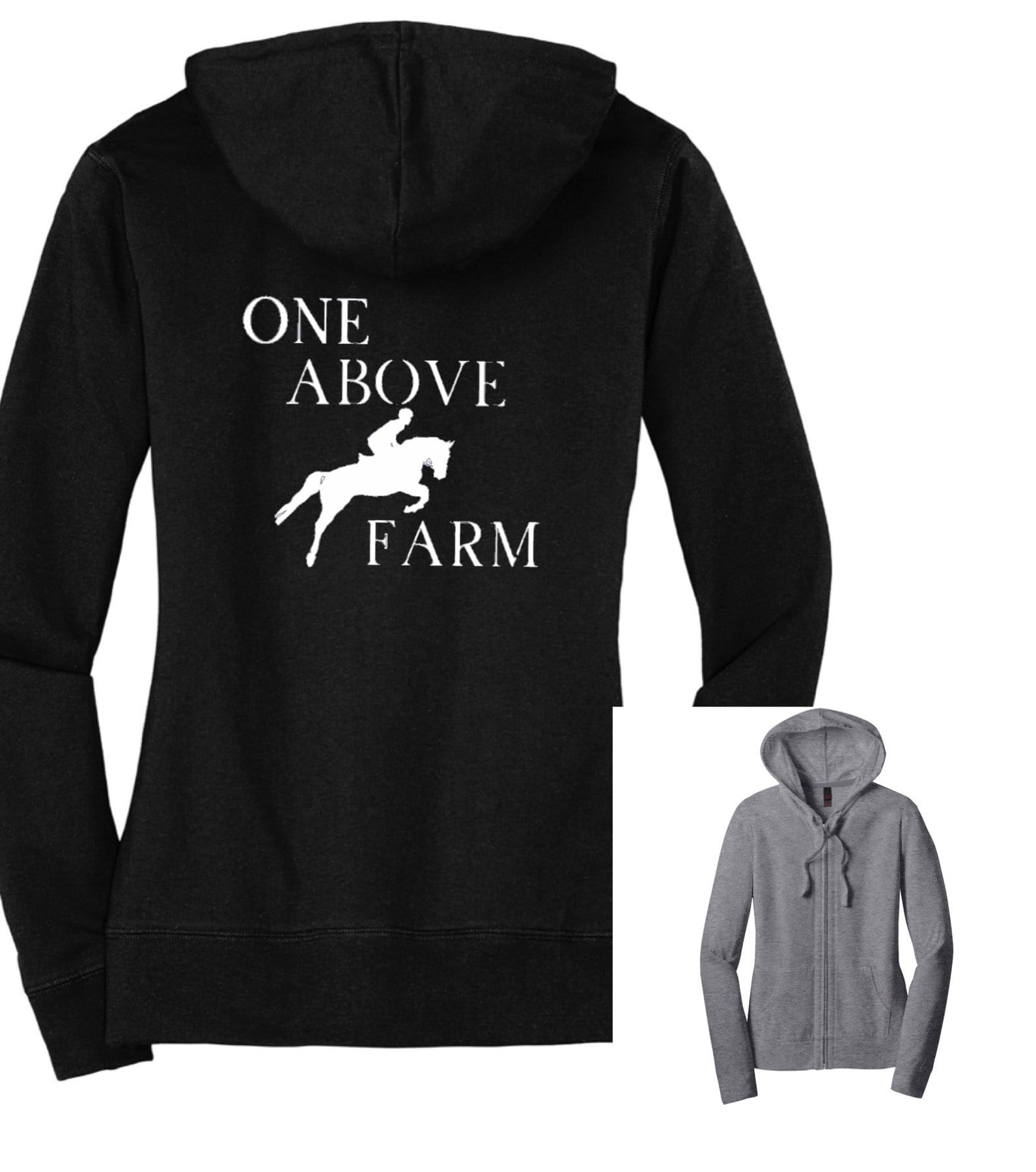 Equestrian Team Apparel Custom Team Shirts One Above Farm Zip Up Hoodie equestrian team apparel online tack store mobile tack store custom farm apparel custom show stable clothing equestrian lifestyle horse show clothing riding clothes horses equestrian tack store
