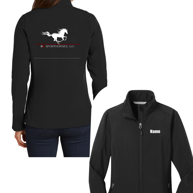 Equestrian Team Apparel Custom Team Shirts RE Sporthorses, LLC Shell Jacket equestrian team apparel online tack store mobile tack store custom farm apparel custom show stable clothing equestrian lifestyle horse show clothing riding clothes horses equestrian tack store