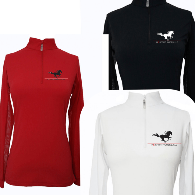 Equestrian Team Apparel Custom Team Shirts RE Sporthorses, LLC Sun Shirt equestrian team apparel online tack store mobile tack store custom farm apparel custom show stable clothing equestrian lifestyle horse show clothing riding clothes horses equestrian tack store