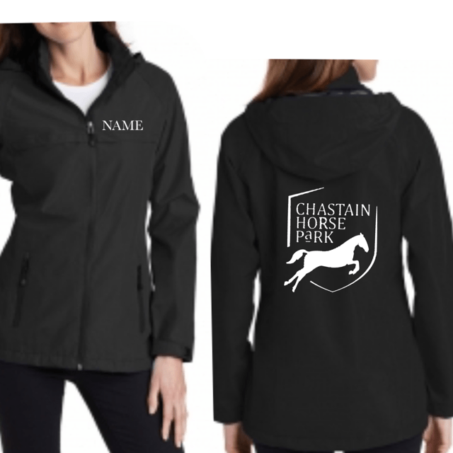 Equestrian Team Apparel Custom Team Hats Chastain Horse Park - Rain Jacket equestrian team apparel online tack store mobile tack store custom farm apparel custom show stable clothing equestrian lifestyle horse show clothing riding clothes horses equestrian tack store