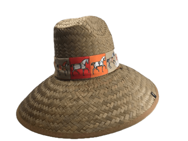 Island Girl Sun Hat Orange Ribbon Derby Day -Island Girls Hats equestrian team apparel online tack store mobile tack store custom farm apparel custom show stable clothing equestrian lifestyle horse show clothing riding clothes horses equestrian tack store