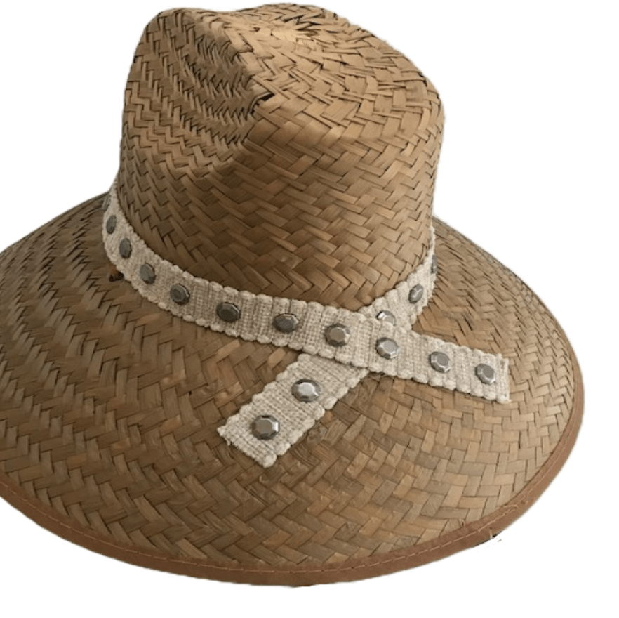 Island Girl Sun Hat One Size Island Girl Hats / Tan with Silver accents equestrian team apparel online tack store mobile tack store custom farm apparel custom show stable clothing equestrian lifestyle horse show clothing riding clothes horses equestrian tack store