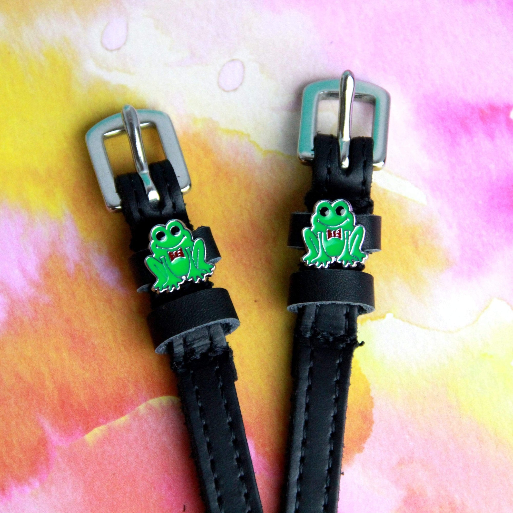 ManeJane Black Spur Straps Frogger Spur Straps equestrian team apparel online tack store mobile tack store custom farm apparel custom show stable clothing equestrian lifestyle horse show clothing riding clothes horses equestrian tack store