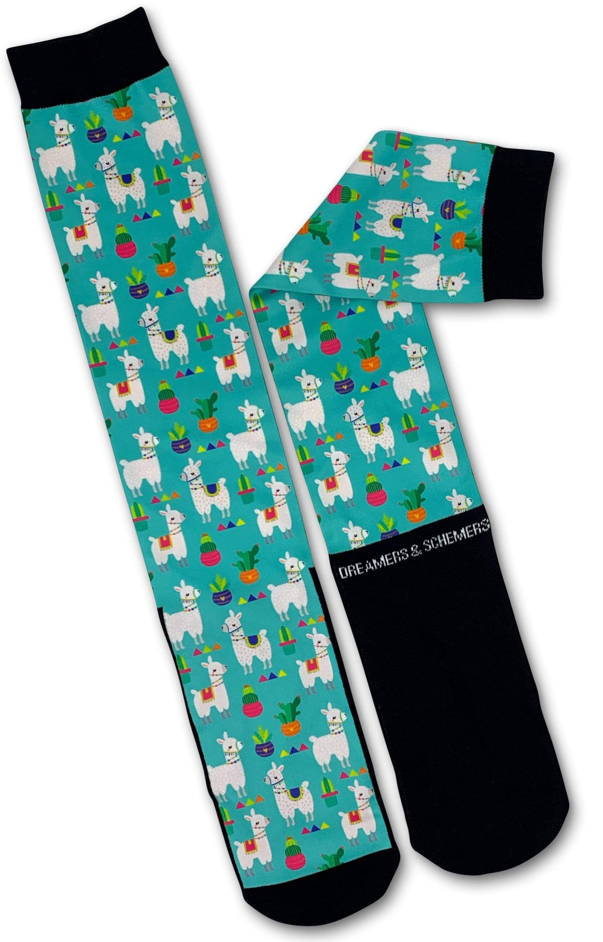 Dreamers & Schemers Socks My Llama Don't Like You Socks equestrian team apparel online tack store mobile tack store custom farm apparel custom show stable clothing equestrian lifestyle horse show clothing riding clothes horses equestrian tack store