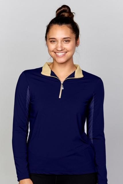 EIS Sunshirt Navy Cashmere EIS Women's Sun Shirt equestrian team apparel online tack store mobile tack store custom farm apparel custom show stable clothing equestrian lifestyle horse show clothing riding clothes Stylish shirts that protect you from the sun? Oh YES. horses equestrian tack store