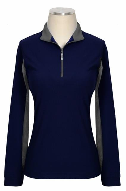 EIS Sunshirt XS Navy Grey EIS Women's Sun Shirt equestrian team apparel online tack store mobile tack store custom farm apparel custom show stable clothing equestrian lifestyle horse show clothing riding clothes Stylish shirts that protect you from the sun? Oh YES. horses equestrian tack store