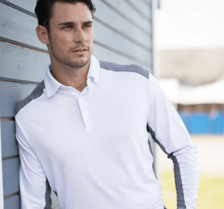 EIS Men's Shirts Men's White/Grey EIS Long Sleeve equestrian team apparel online tack store mobile tack store custom farm apparel custom show stable clothing equestrian lifestyle horse show clothing riding clothes horses equestrian tack store