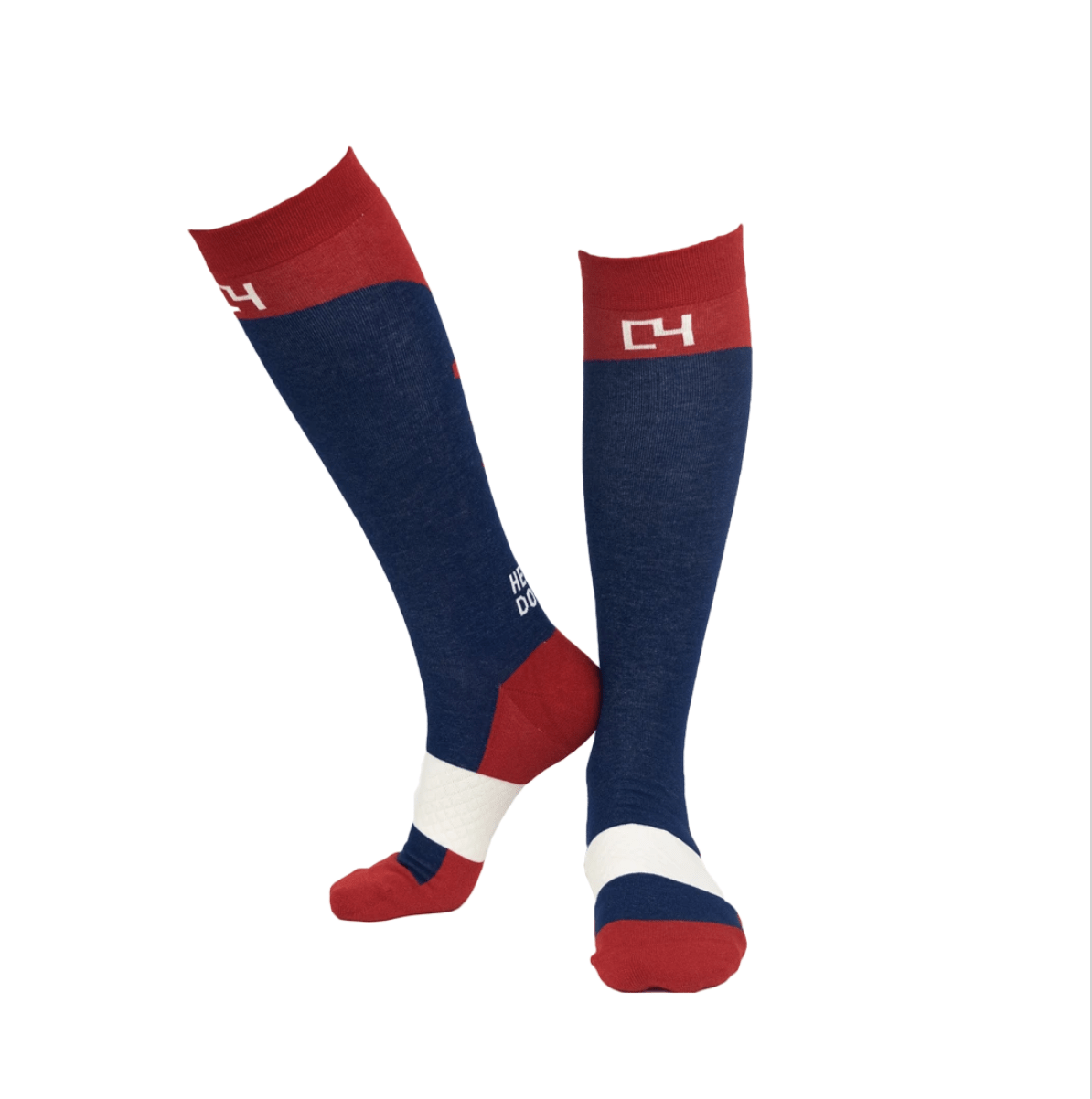 C4 Belts Socks C4 Riding Socks -Navy/Red equestrian team apparel online tack store mobile tack store custom farm apparel custom show stable clothing equestrian lifestyle horse show clothing riding clothes horses equestrian tack store