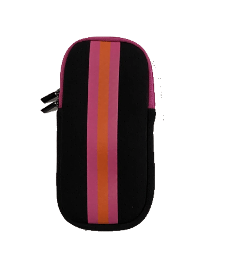 Haute Shore Bags Black Neon Stripe Eye Glass Case equestrian team apparel online tack store mobile tack store custom farm apparel custom show stable clothing equestrian lifestyle horse show clothing riding clothes horses equestrian tack store
