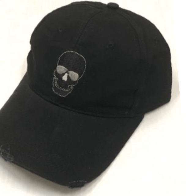 Equestrian Team Apparel Baseball Caps Skull - Black/Grey Baseball Caps with Fun Sayings equestrian team apparel online tack store mobile tack store custom farm apparel custom show stable clothing equestrian lifestyle horse show clothing riding clothes horses equestrian tack store