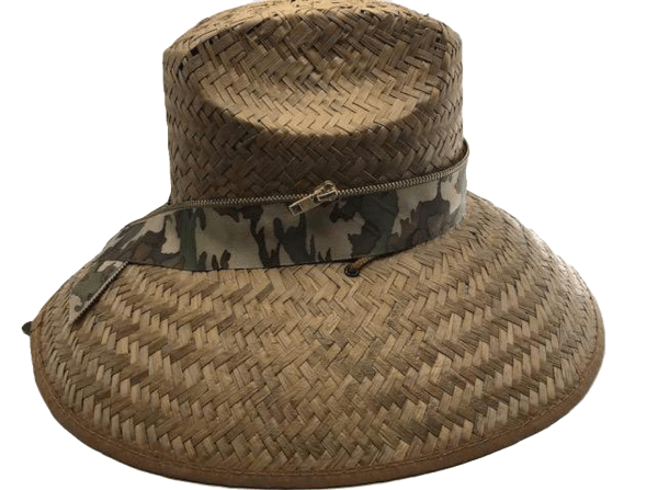 Island Girl Sun Hat One Size Camo/Gold Zipper Island Girl Hats equestrian team apparel online tack store mobile tack store custom farm apparel custom show stable clothing equestrian lifestyle horse show clothing riding clothes horses equestrian tack store
