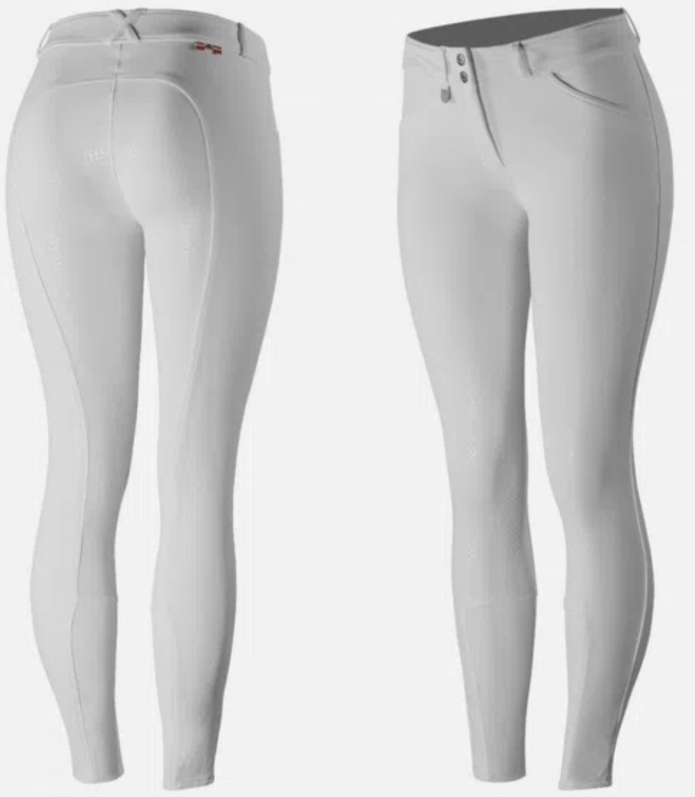 Horze Breeches White / US 22 (EUR 34) Horze Full Seat Grand Prix Silicon equestrian team apparel online tack store mobile tack store custom farm apparel custom show stable clothing equestrian lifestyle horse show clothing riding clothes horses equestrian tack store