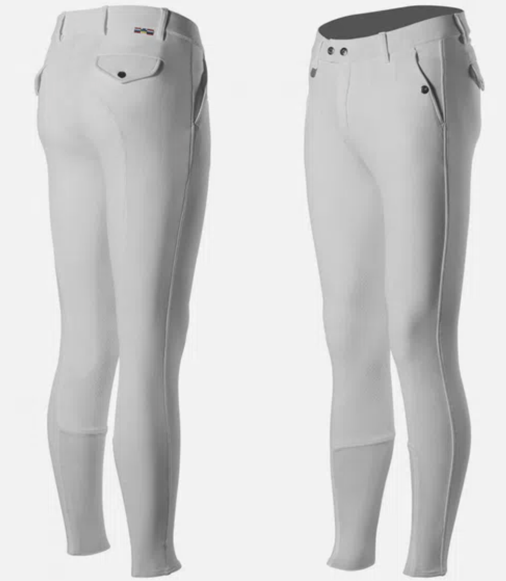 Horze Breeches Horze Men's White Grand Prix Breeches - Silicone Grip equestrian team apparel online tack store mobile tack store custom farm apparel custom show stable clothing equestrian lifestyle horse show clothing riding clothes horses equestrian tack store