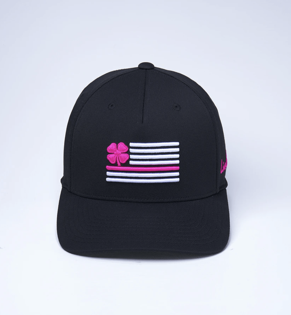 Black Clover Baseball Caps Pink Flag - Adjustable equestrian team apparel online tack store mobile tack store custom farm apparel custom show stable clothing equestrian lifestyle horse show clothing riding clothes horses equestrian tack store