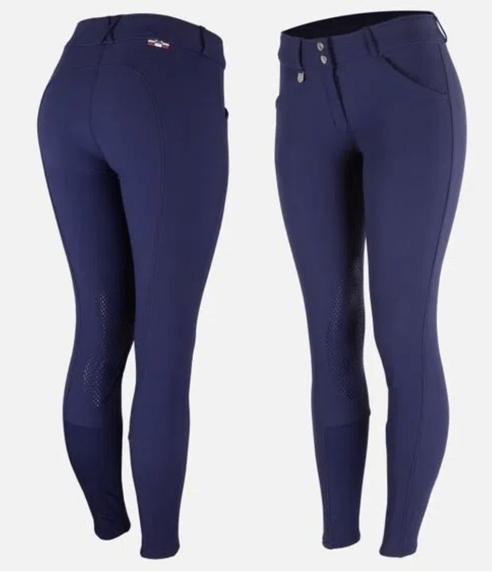 Horze Breeches US 22 (EU 34) / Patriot Blue Horze Women's Grand Prix Knee Patch Breeches - Silicone Patches equestrian team apparel online tack store mobile tack store custom farm apparel custom show stable clothing equestrian lifestyle horse show clothing riding clothes horses equestrian tack store
