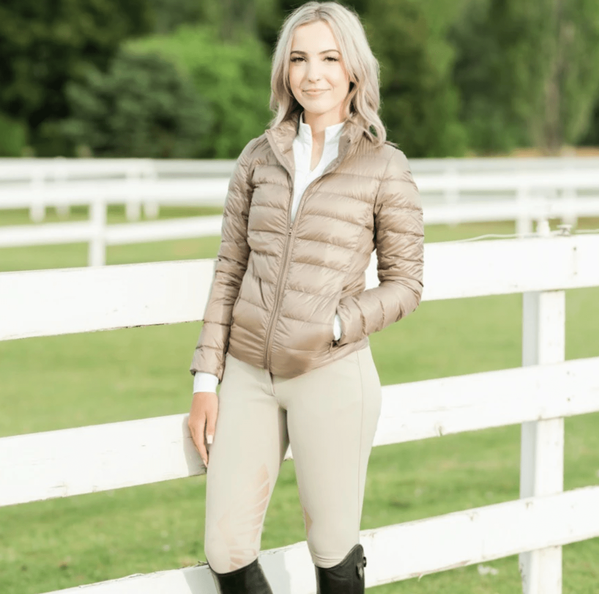 TKEQ Jacket EZ Packable Down Jacket- Champagne equestrian team apparel online tack store mobile tack store custom farm apparel custom show stable clothing equestrian lifestyle horse show clothing riding clothes horses equestrian tack store