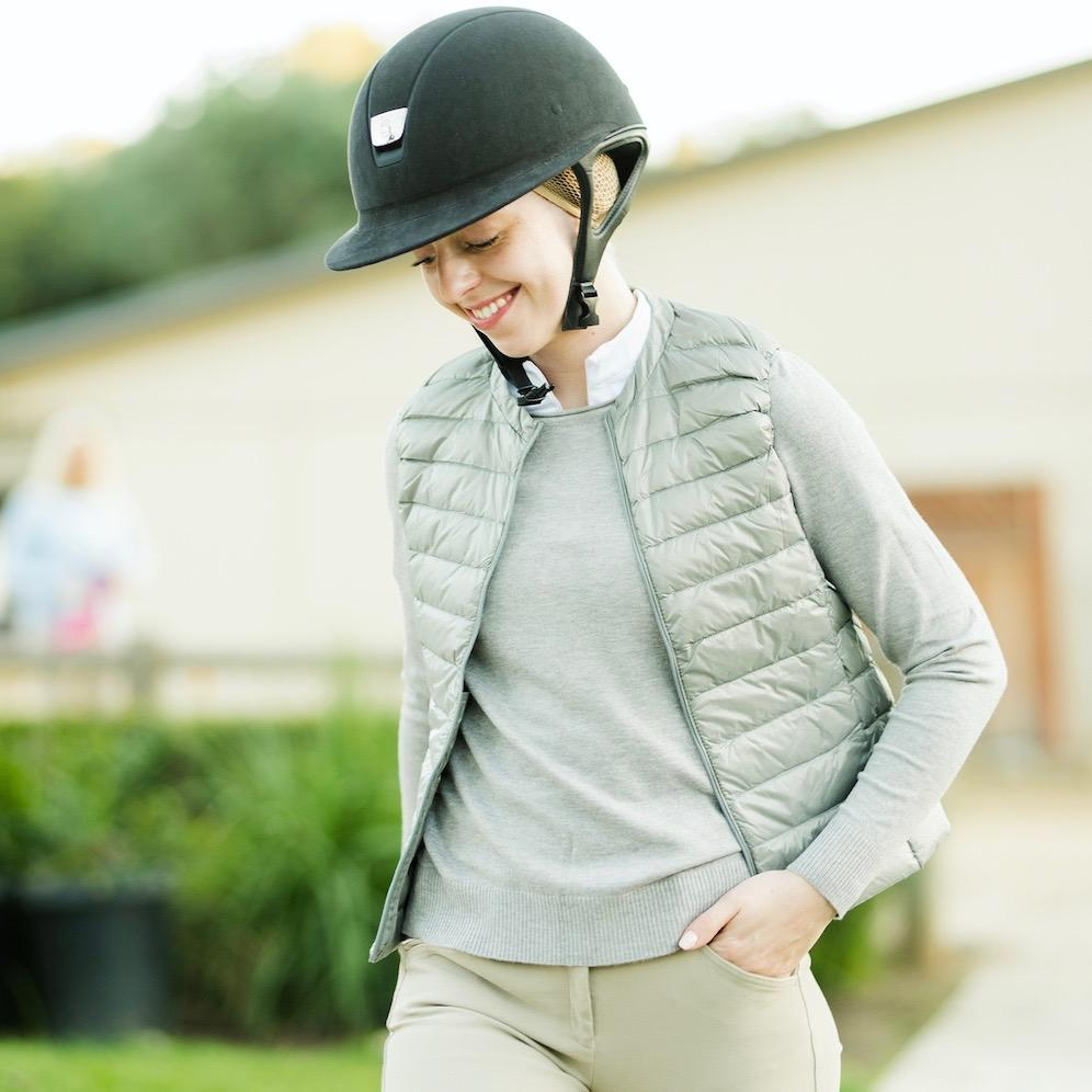 TKEQ Jacket XS / FOG Amelia Collarless Down Vest -Fog equestrian team apparel online tack store mobile tack store custom farm apparel custom show stable clothing equestrian lifestyle horse show clothing riding clothes horses equestrian tack store
