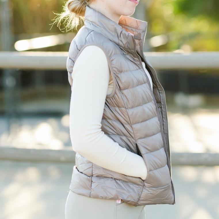 TKEQ Jacket XS EZ Packable Down Vest- Chamapagne equestrian team apparel online tack store mobile tack store custom farm apparel custom show stable clothing equestrian lifestyle horse show clothing riding clothes horses equestrian tack store