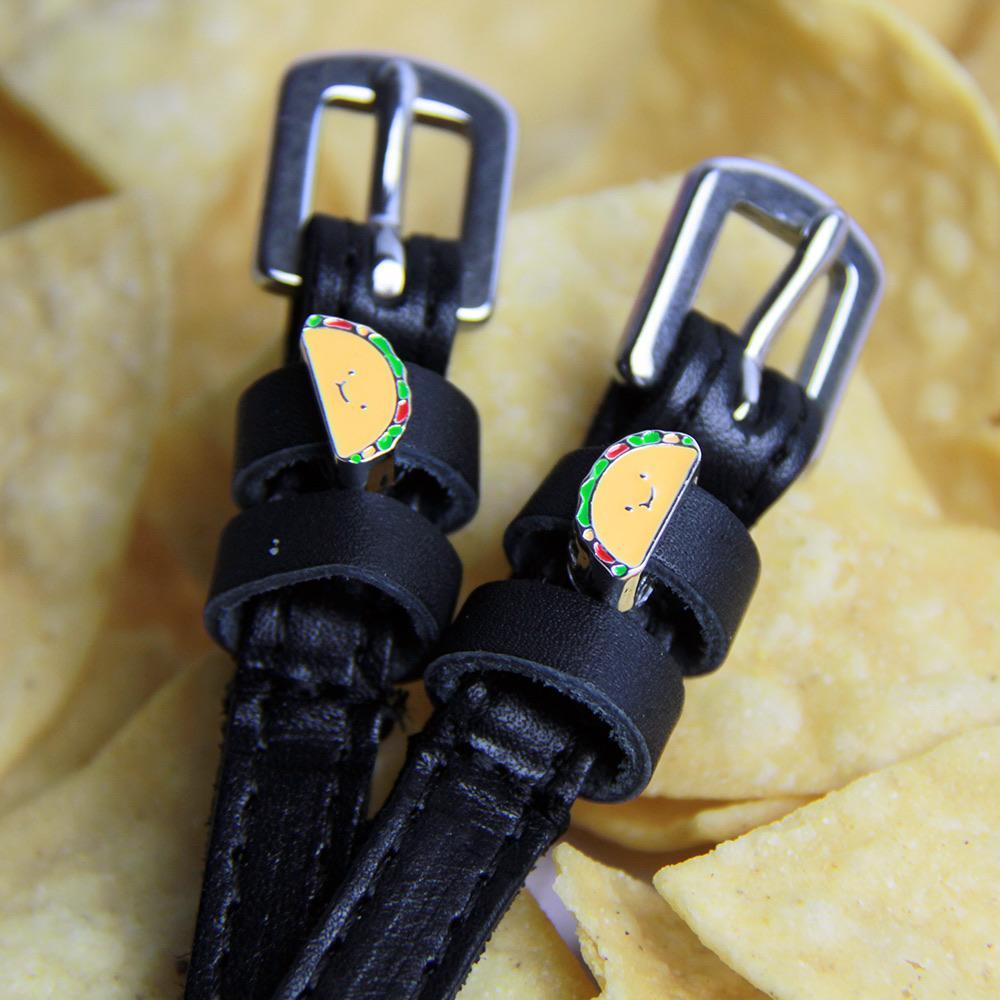 ManeJane Black Spur Straps Tacos Spur Straps equestrian team apparel online tack store mobile tack store custom farm apparel custom show stable clothing equestrian lifestyle horse show clothing riding clothes horses equestrian tack store
