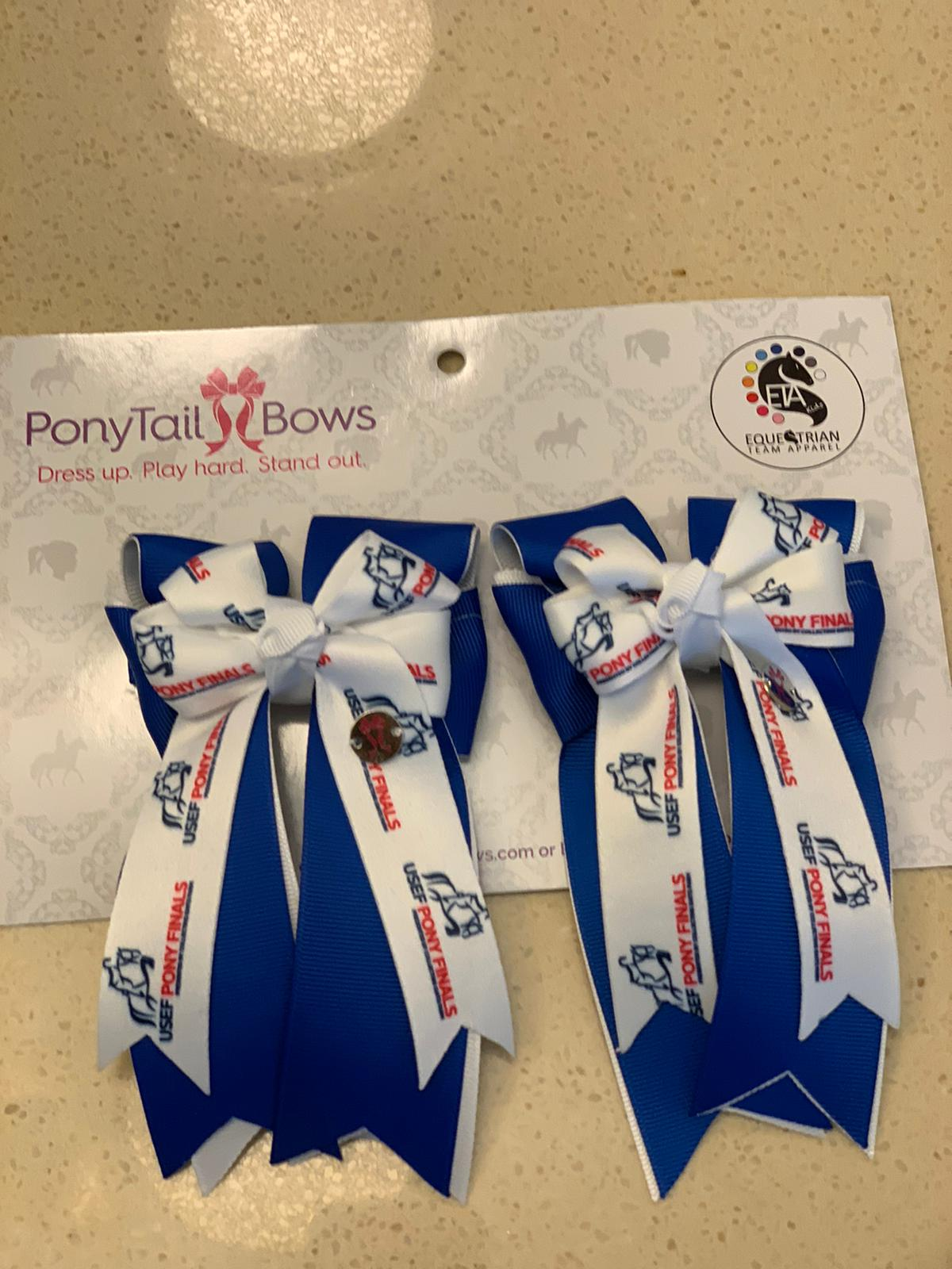 "Ponytail Bows 3"" Tails PF Royal Show Bows equestrian team apparel online tack store mobile tack store custom farm apparel custom show stable clothing equestrian lifestyle horse show clothing riding clothes horses equestrian tack store"