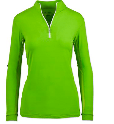 Tailored Sportsman Women's Shirt XXS / APPLE GREEN/WHITE Apple Green/White Long Sleeve Sun Shirt equestrian team apparel online tack store mobile tack store custom farm apparel custom show stable clothing equestrian lifestyle horse show clothing riding clothes Stay cool in a long sleeve sun shirt from Tailored Sportsman horses equestrian tack store