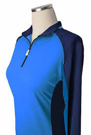 EIS Sunshirt EIS Baja Navy Womens Long Sleeve equestrian team apparel online tack store mobile tack store custom farm apparel custom show stable clothing equestrian lifestyle horse show clothing riding clothes Wear a flattering sunshirt when you ride | made in the USA horses equestrian tack store