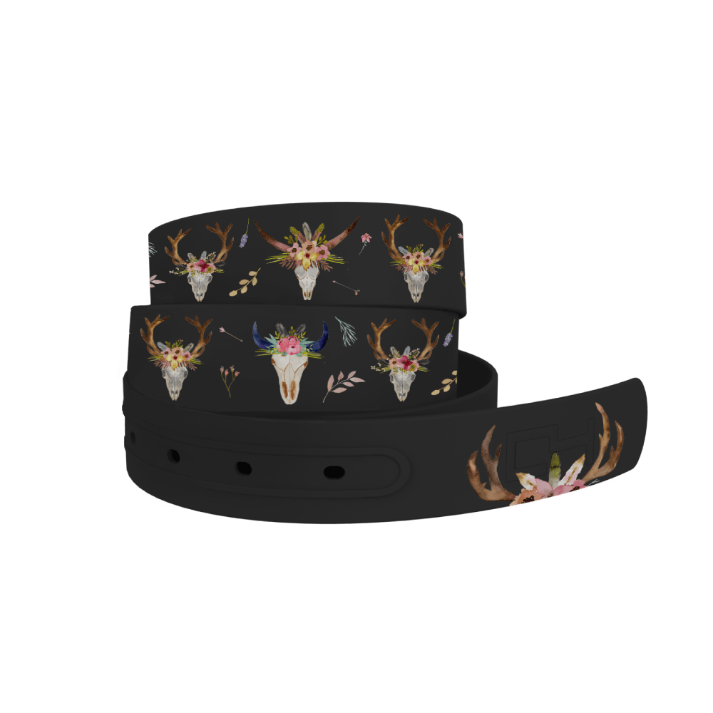 C4 Belts Belt Cow Skull Belt by C4 equestrian team apparel online tack store mobile tack store custom farm apparel custom show stable clothing equestrian lifestyle horse show clothing riding clothes horses equestrian tack store