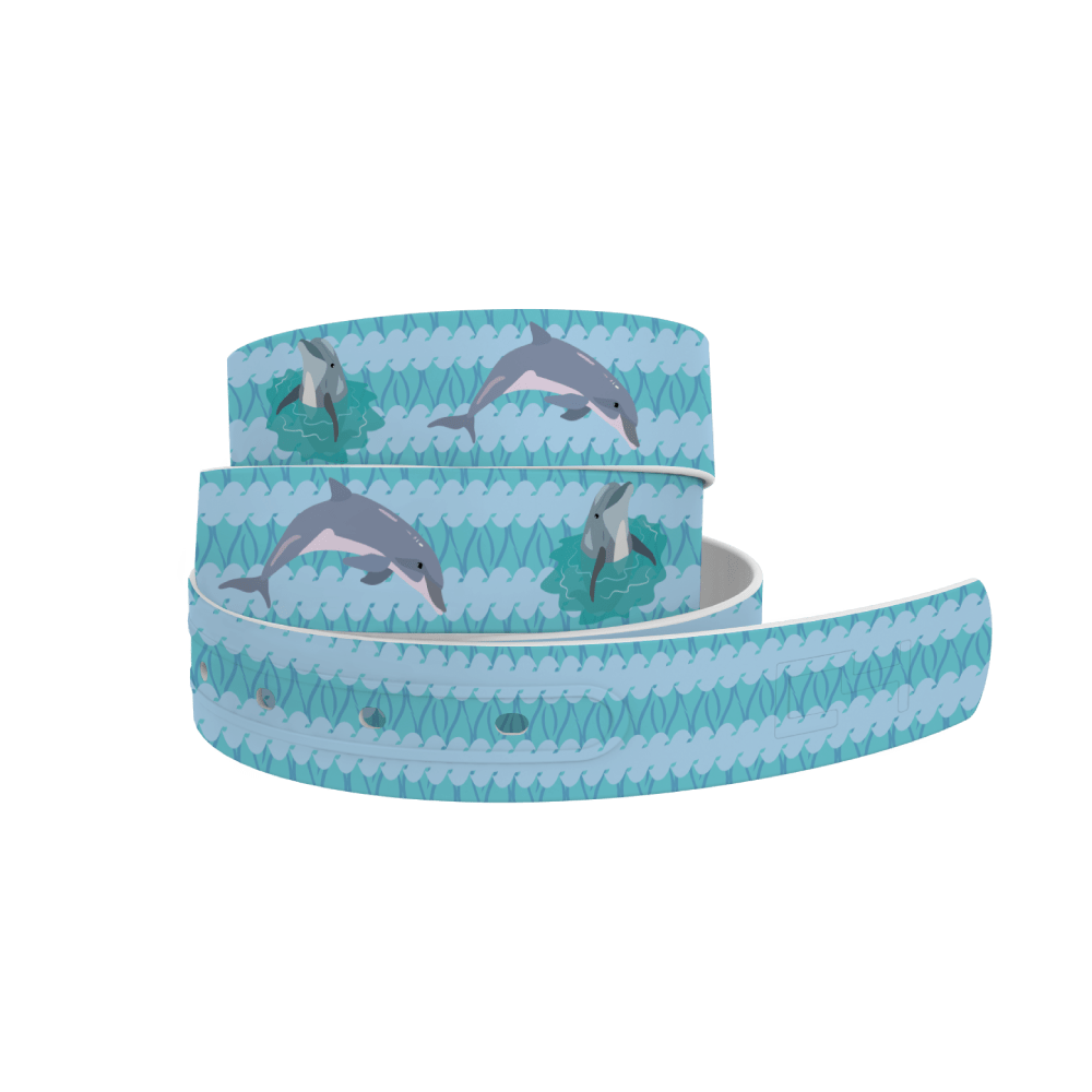 C4 Belts Belt Diving Dolphins Belt- C4 equestrian team apparel online tack store mobile tack store custom farm apparel custom show stable clothing equestrian lifestyle horse show clothing riding clothes horses equestrian tack store