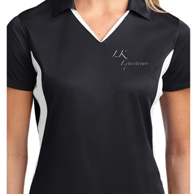 Equestrian Team Apparel Custom Team Shirts Men / XS / Black/Grey LK Equestrian Polo Shirt equestrian team apparel online tack store mobile tack store custom farm apparel custom show stable clothing equestrian lifestyle horse show clothing riding clothes horses equestrian tack store
