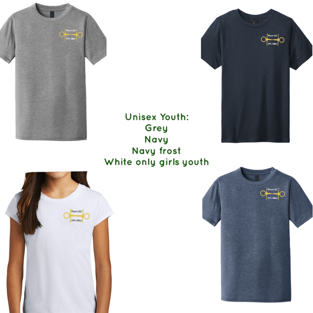 Equestrian Team Apparel Custom Team Shirts Copy of Boyson Hill Shirts - Youth equestrian team apparel online tack store mobile tack store custom farm apparel custom show stable clothing equestrian lifestyle horse show clothing riding clothes horses equestrian tack store