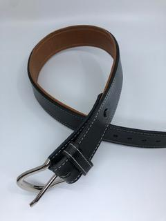 Equestrian Team Apparel Belt Padded Leather Belts - Black/Natural Tan equestrian team apparel online tack store mobile tack store custom farm apparel custom show stable clothing equestrian lifestyle horse show clothing riding clothes horses equestrian tack store