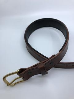Equestrian Team Apparel Belt Padded Leather Belts - Chocolate Brown/Black equestrian team apparel online tack store mobile tack store custom farm apparel custom show stable clothing equestrian lifestyle horse show clothing riding clothes horses equestrian tack store