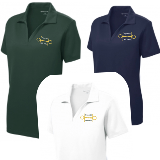 Equestrian Team Apparel Custom Team Shirts Boyson Hill Polo Shirts - Ladies equestrian team apparel online tack store mobile tack store custom farm apparel custom show stable clothing equestrian lifestyle horse show clothing riding clothes horses equestrian tack store