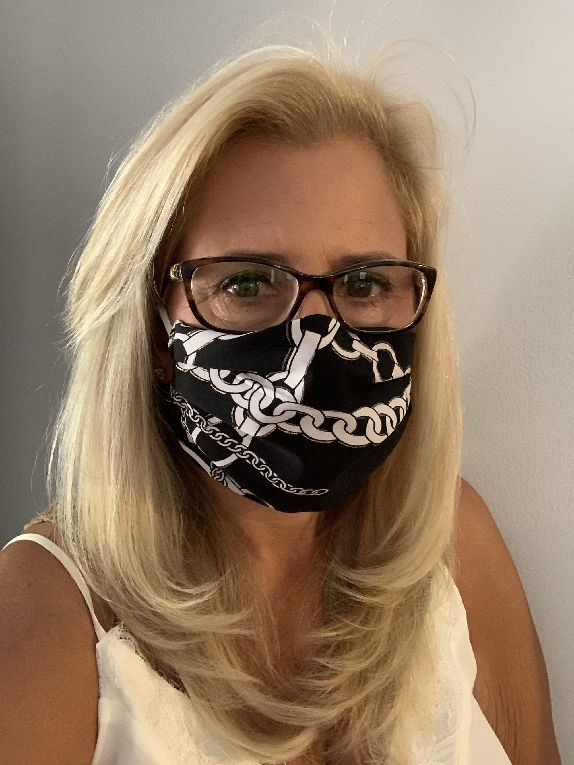 Stacy Bradley Design Face Mask Equestrian Black and White equestrian team apparel online tack store mobile tack store custom farm apparel custom show stable clothing equestrian lifestyle horse show clothing riding clothes horses equestrian tack store