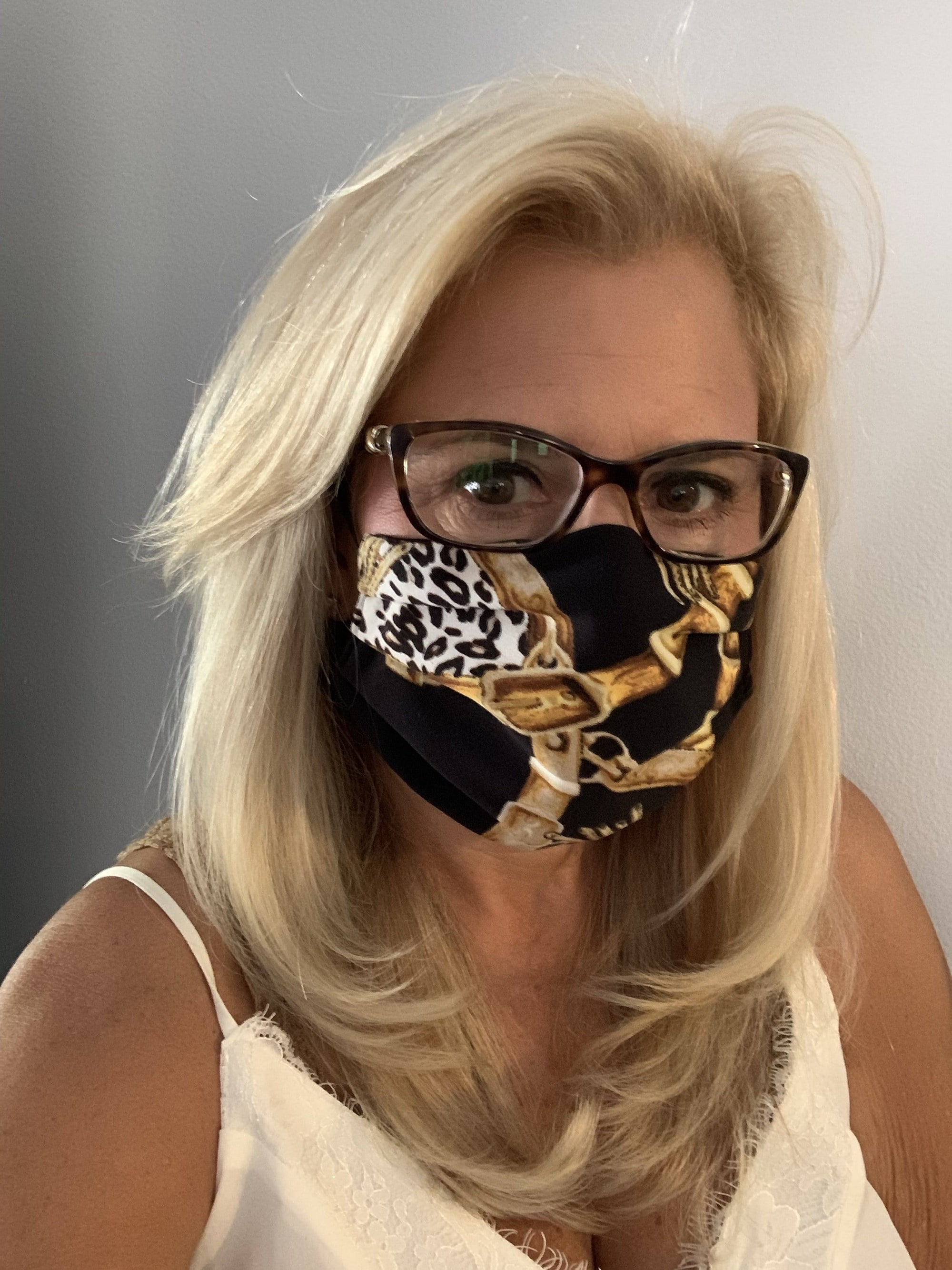 Stacy Bradley Design Face Mask Equestrian Animal Print equestrian team apparel online tack store mobile tack store custom farm apparel custom show stable clothing equestrian lifestyle horse show clothing riding clothes horses equestrian tack store