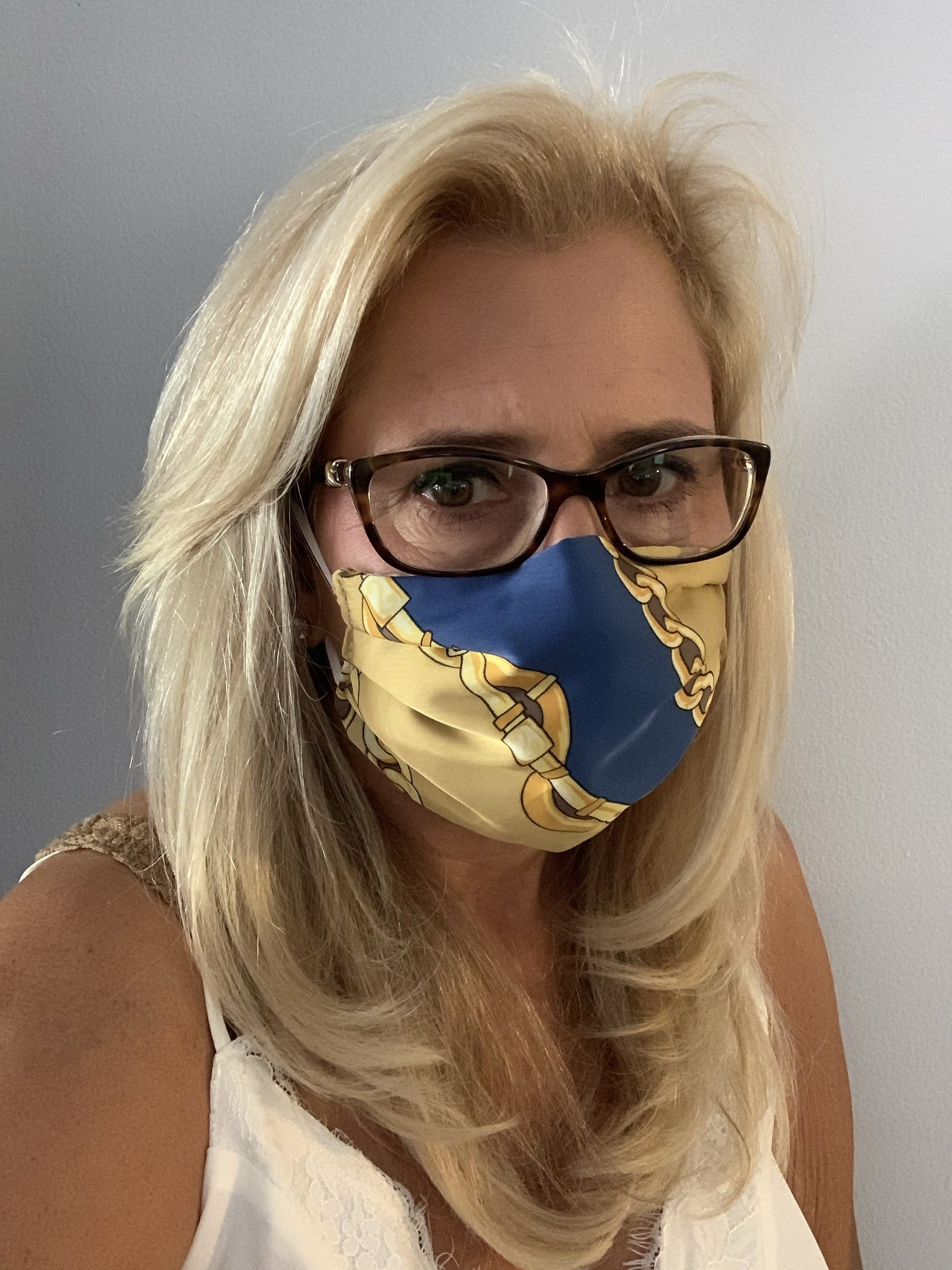 Stacy Bradley Design Face Mask Equestrian Blue equestrian team apparel online tack store mobile tack store custom farm apparel custom show stable clothing equestrian lifestyle horse show clothing riding clothes horses equestrian tack store