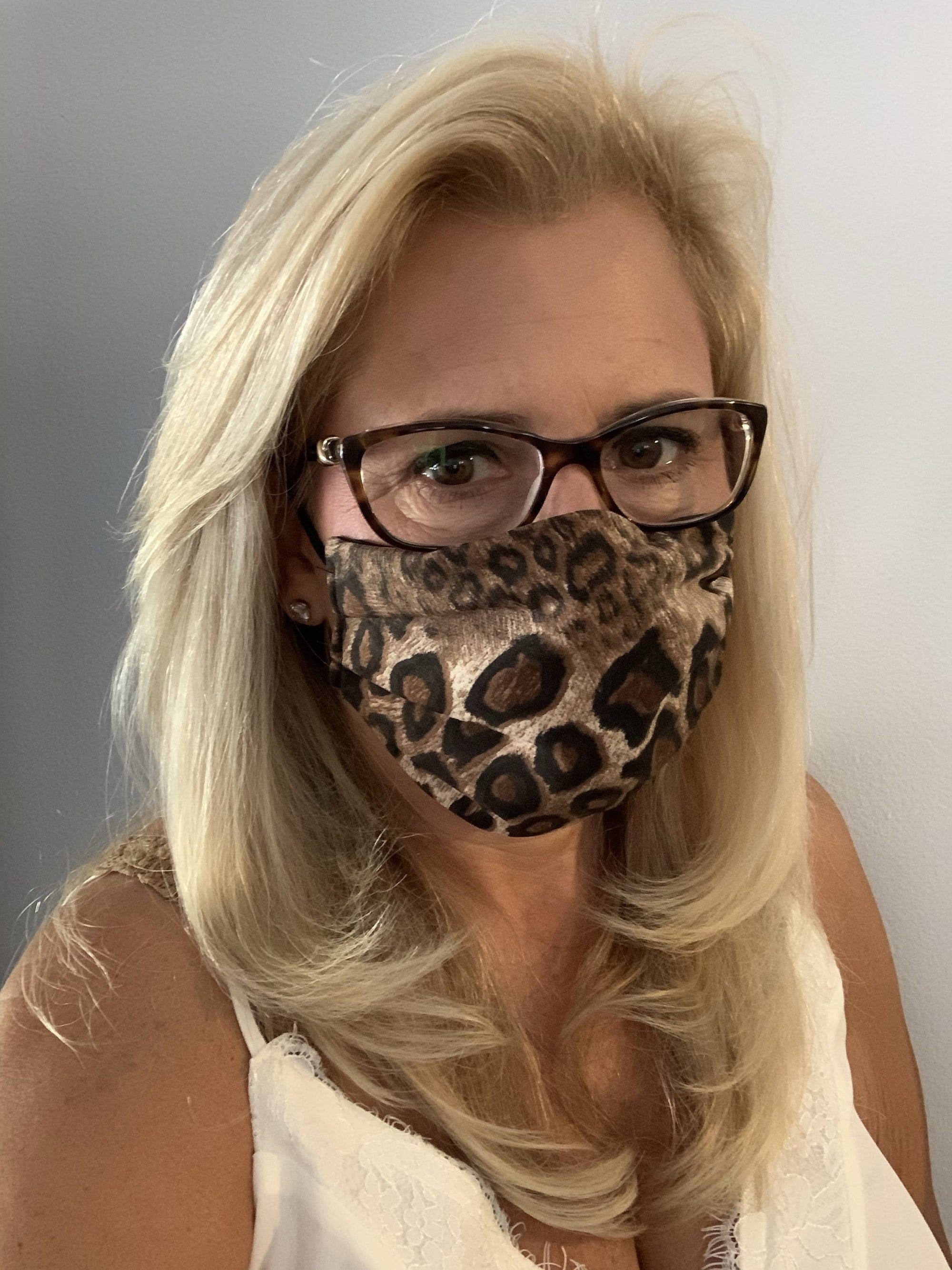 Stacy Bradley Design Face Mask Brown Leopard equestrian team apparel online tack store mobile tack store custom farm apparel custom show stable clothing equestrian lifestyle horse show clothing riding clothes horses equestrian tack store