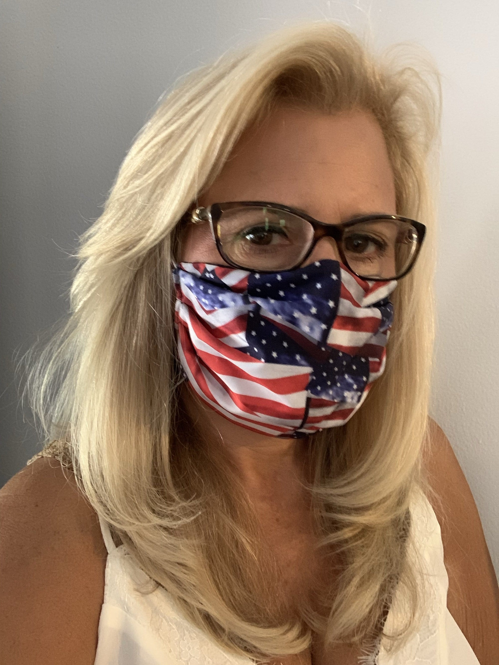 Stacy Bradley Design Face Mask American Flag equestrian team apparel online tack store mobile tack store custom farm apparel custom show stable clothing equestrian lifestyle horse show clothing riding clothes horses equestrian tack store