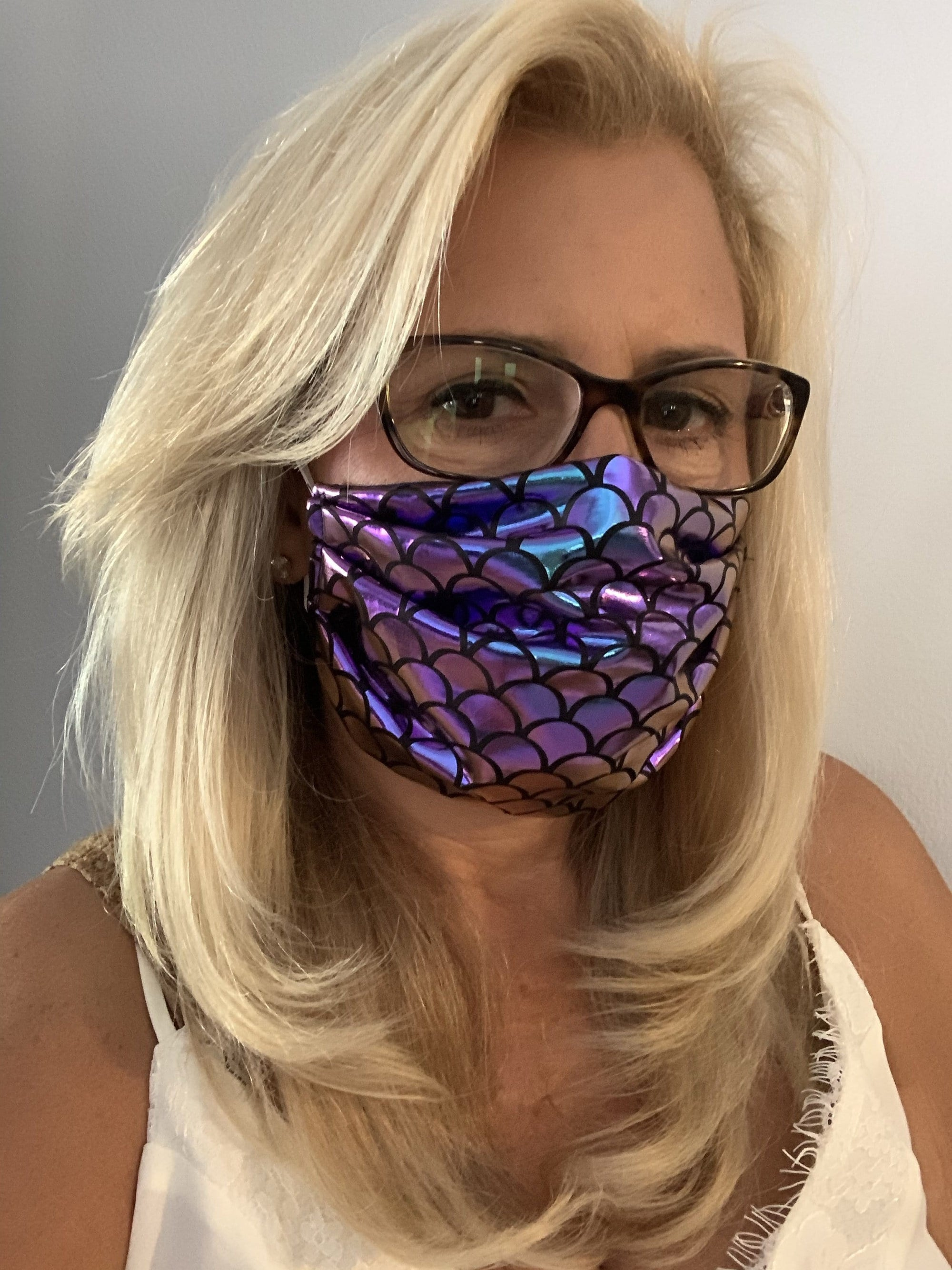 Stacy Bradley Design Face Mask Under the Sea equestrian team apparel online tack store mobile tack store custom farm apparel custom show stable clothing equestrian lifestyle horse show clothing riding clothes horses equestrian tack store