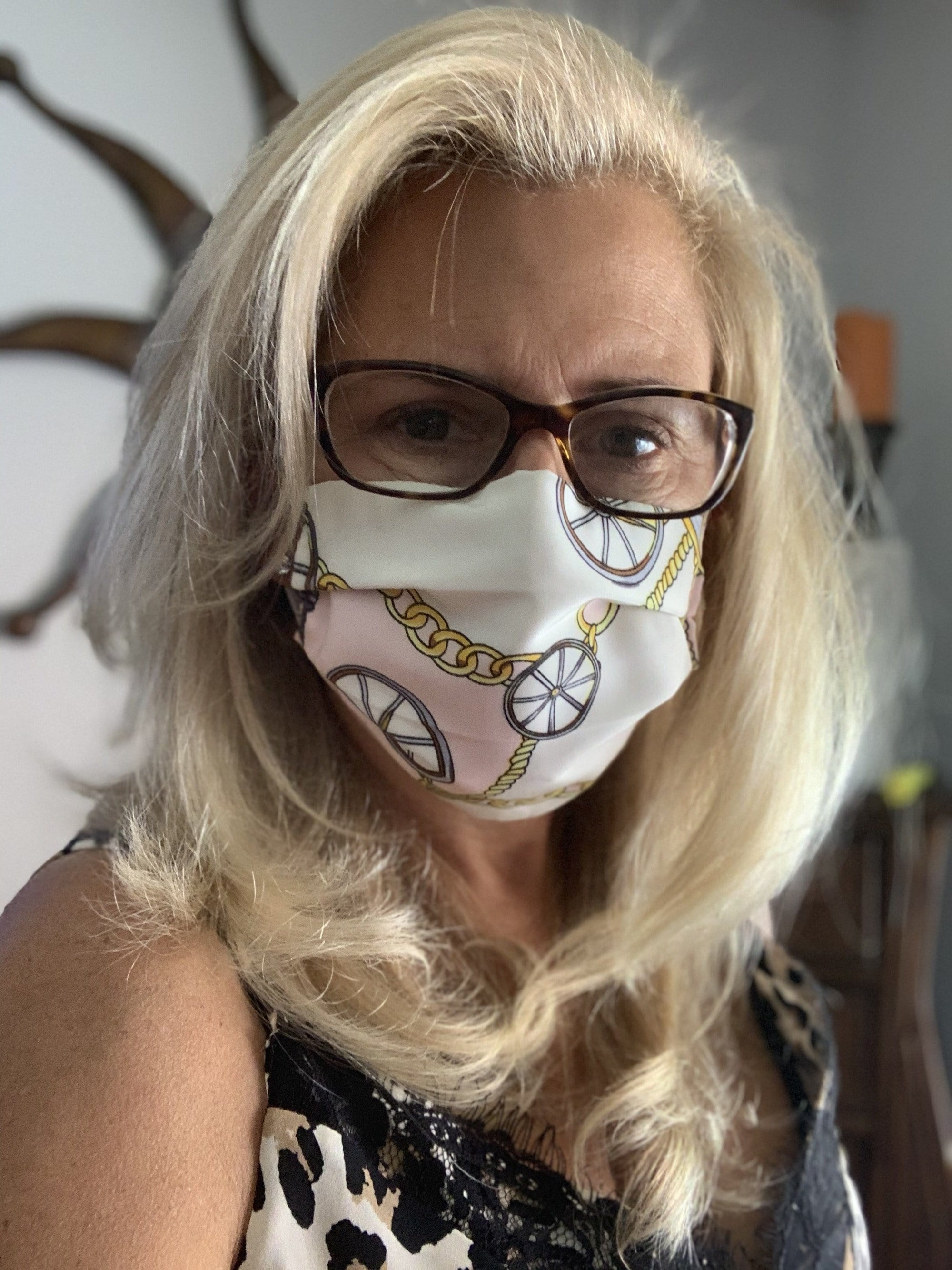 Stacy Bradley Design Face Mask Pink Scarf equestrian team apparel online tack store mobile tack store custom farm apparel custom show stable clothing equestrian lifestyle horse show clothing riding clothes horses equestrian tack store