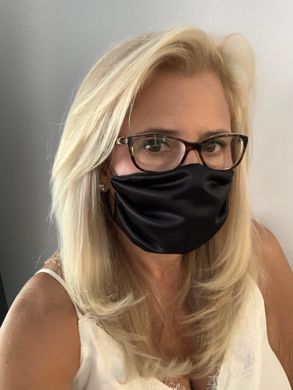 Stacy Bradley Design Face Mask Satin Black equestrian team apparel online tack store mobile tack store custom farm apparel custom show stable clothing equestrian lifestyle horse show clothing riding clothes horses equestrian tack store