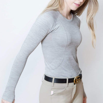 TKEQ Women's Casual Shirt Kennedy Seamless Long Sleeve Shirt - COVE equestrian team apparel online tack store mobile tack store custom farm apparel custom show stable clothing equestrian lifestyle horse show clothing riding clothes horses equestrian tack store