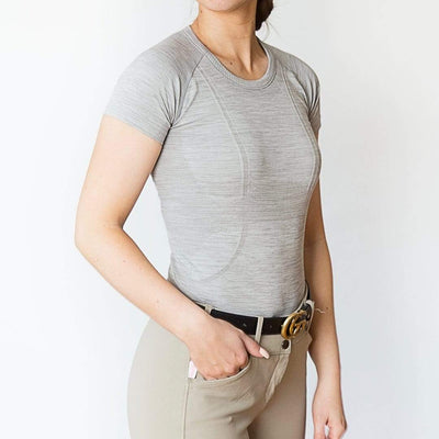 TKEQ Women's Casual Shirt Kennedy Seamless Short Sleeve Shirt Cove equestrian team apparel online tack store mobile tack store custom farm apparel custom show stable clothing equestrian lifestyle horse show clothing riding clothes horses equestrian tack store