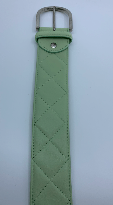 Tailored Sportsman Belt Quilted Leather Tailored Sportsman Belt - Key Lime equestrian team apparel online tack store mobile tack store custom farm apparel custom show stable clothing equestrian lifestyle horse show clothing riding clothes horses equestrian tack store